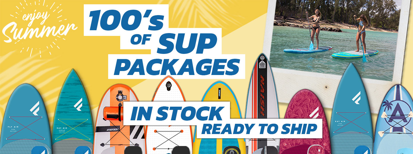 Shop from 100's of SUP packages in stock