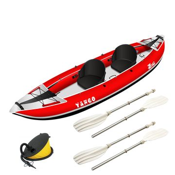 Zpro Tango 2 man Inflatable Kayak Red Package