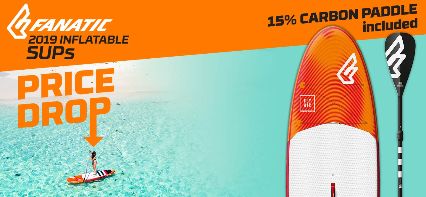 Shop 2019 Fanatic Inflatable SUP package deals