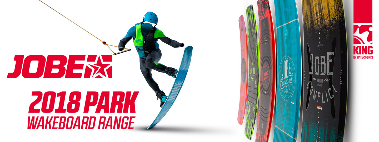 The New 2018 Range of Jobe Park wakeboards