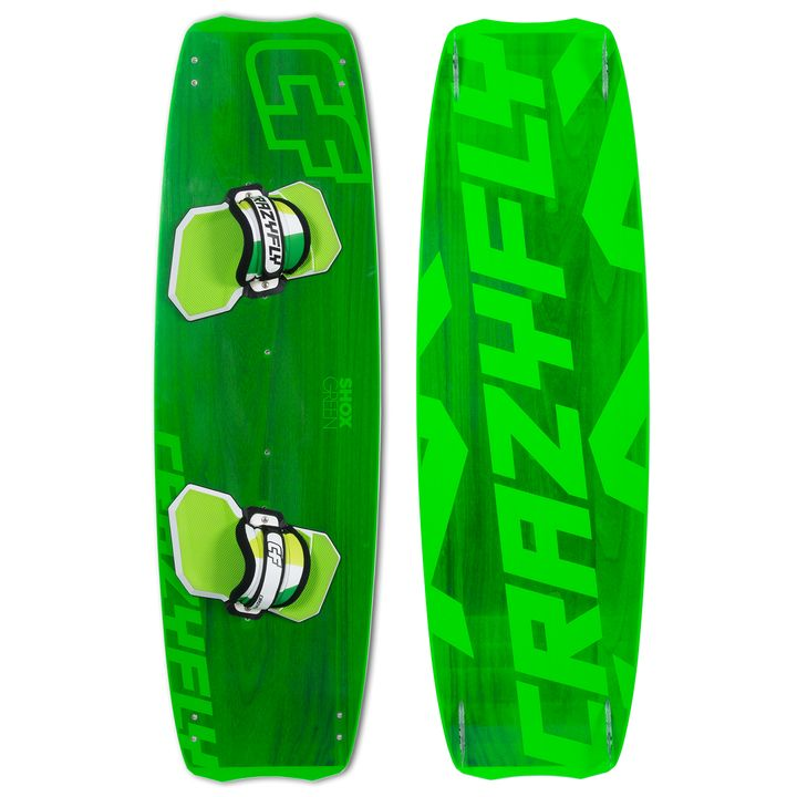 Crazyfly Shox Green Kiteboard 2014