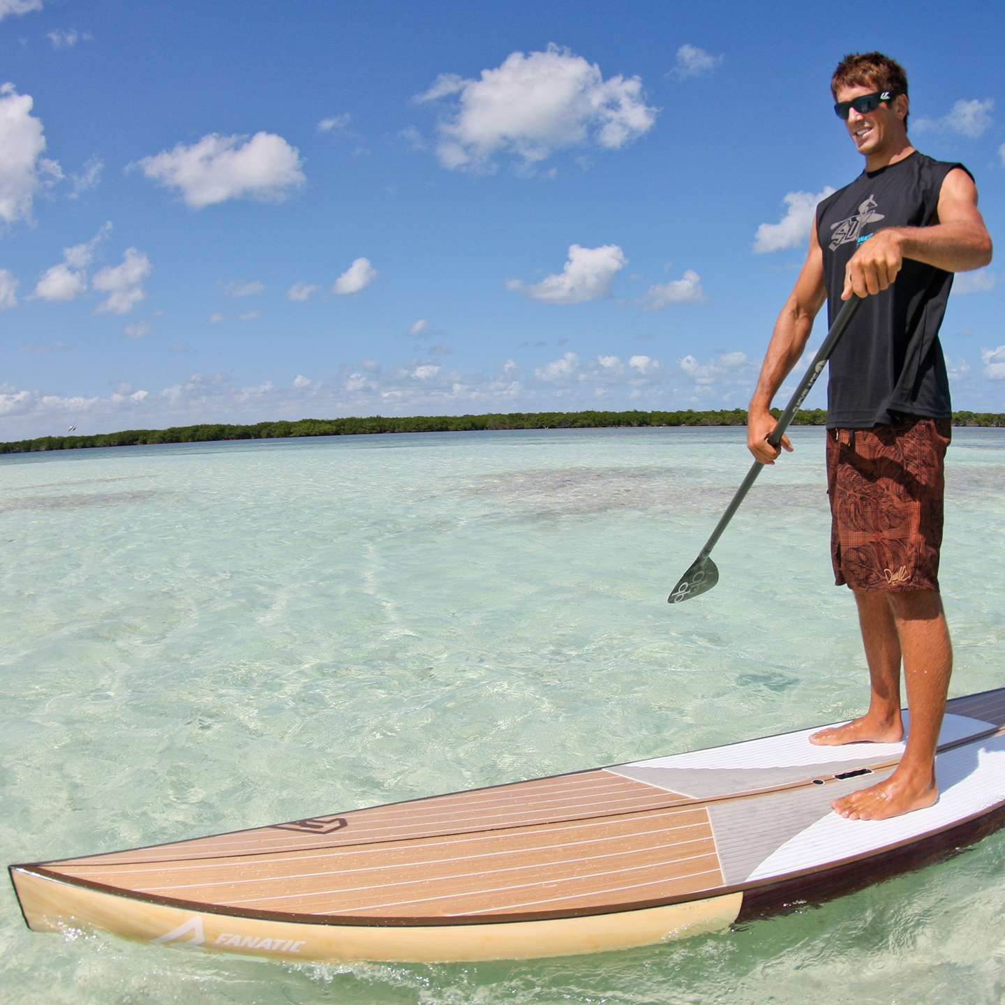 Fanatic Fly Race Clear Wood Sup Board 2014 King Of