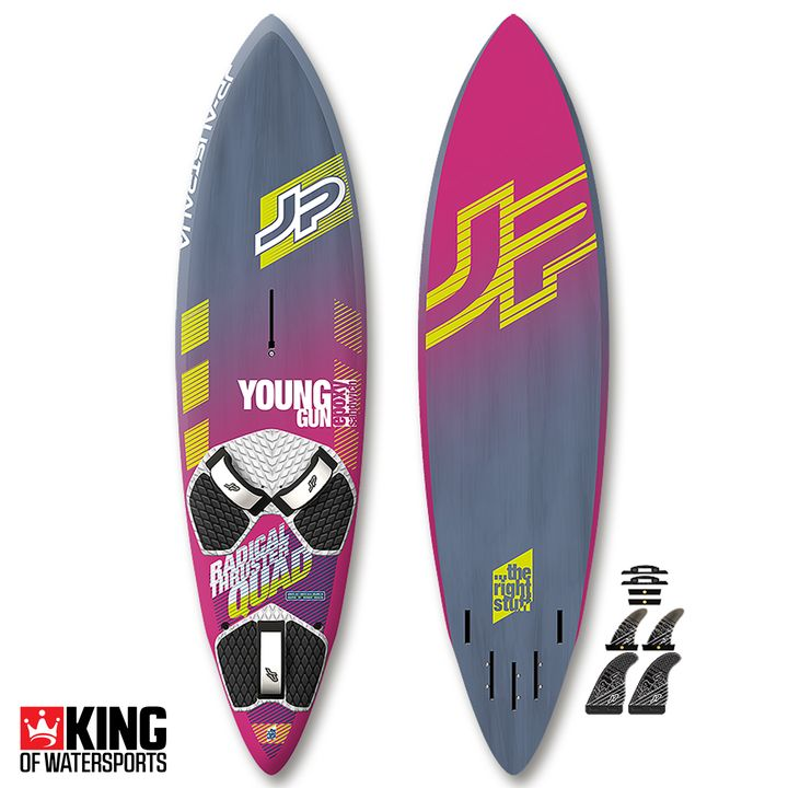 JP Young Gun Radical Thruster Quad Windsurf Board 2018