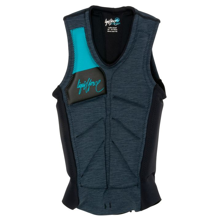 Liquid Force Womens Cardigan Impact Vest 2013 Grey