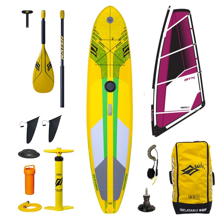 Naish Crossover 2017 11'0 Inflatable SUP Windsurf Package
