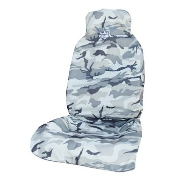 O'Shea Grey Camo Car Seat Cover