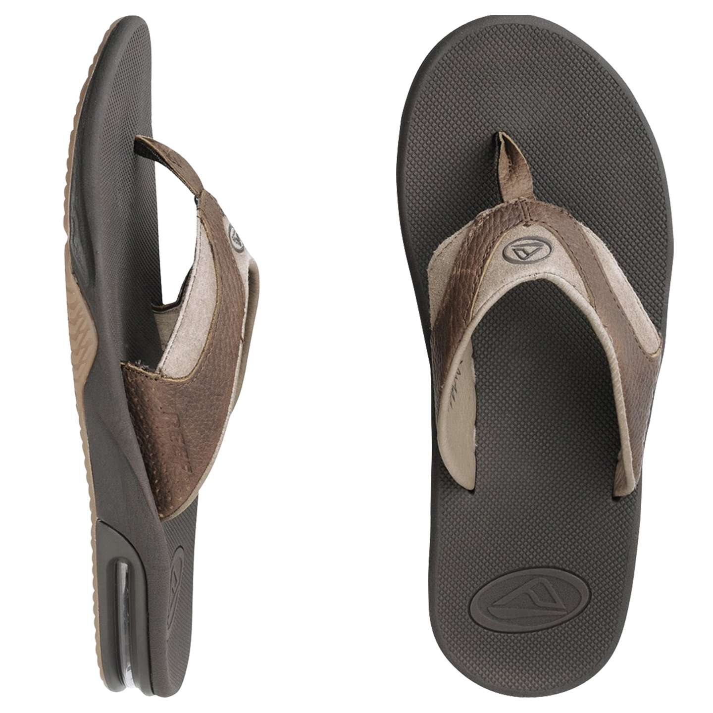 Sandals Leather Fanning Reef Reef Leather Sandals Fanning Reef XOPiTwulZk