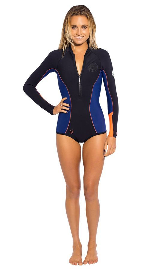 Rip Curl Womens G Bomb 1mm High Cut Wetsuit 2014