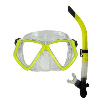 Typhoon TM2 Adult Mask & Snorkel Set - Yellow