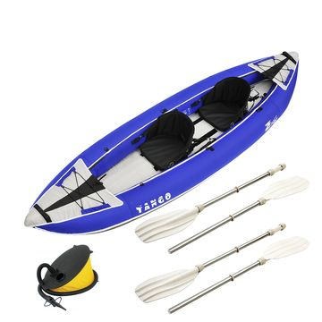 Zpro Tango 2 man Inflatable Kayak Blue Package